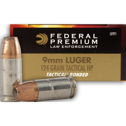 Federal Federal Premium 9mm Luger Ammo Fedle9t1cs Opticsandammo Com Hunting Shooting Sport Optics And Ammunition Products With Free Shipping