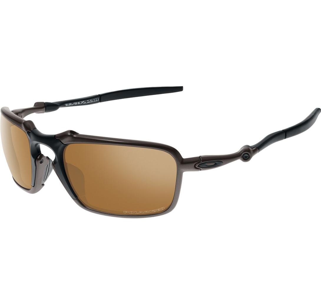 6a2d824ee577a Oakley® Badman Polarized Sunglasses Tungsten Iriduim Lenses Pewter Frames -  OpticsandAmmo.com