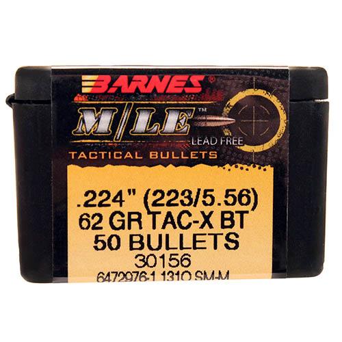 Barnes Bullets 22406 223/5.56 .224″62gr MLE TACX BT/50 Mfg ...