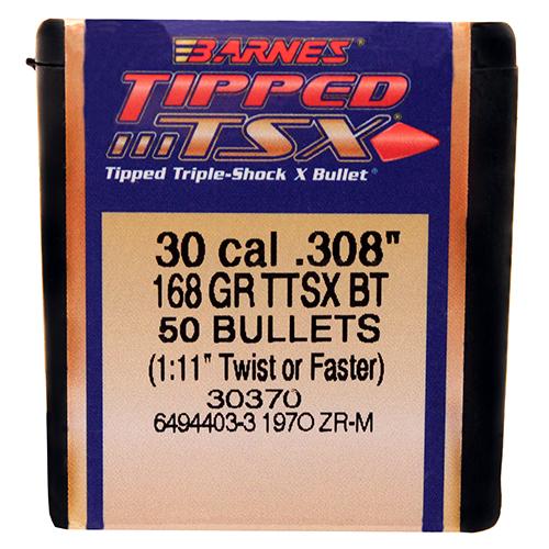 """Barnes Bullets 30878 30 Cal .308"""" 168gr TTSX BT /50 Mfg# 30370"""