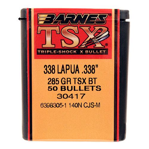Barnes Bullets 33850 338 Lapua .338″ 285gr TSX BT /50 Mfg ...