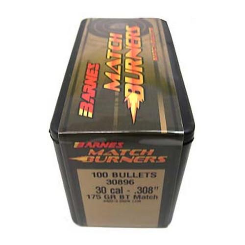 Barnes Bullets 30896 30 Cal .308″ 175gr BT Match /100 Mfg ...