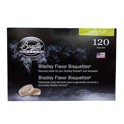 Bradley Technologies Apple Bisquettes (120 Pack) Mfg# BTAP120