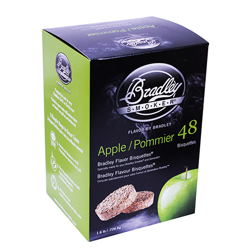 Bradley Technologies Apple Bisquettes (48 Pack) Mfg# BTAP48