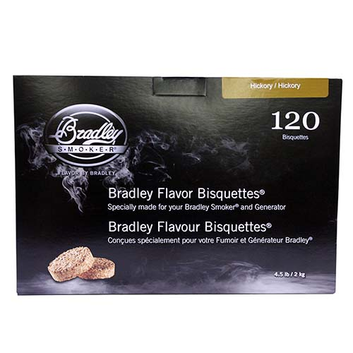 Bradley Technologies Hickory Bisquettes (120 Pack) Mfg# BTHC120