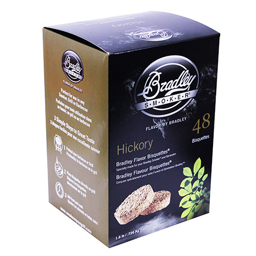 Bradley Technologies Hickory Bisquettes (48 Pack) Mfg# BTHC48