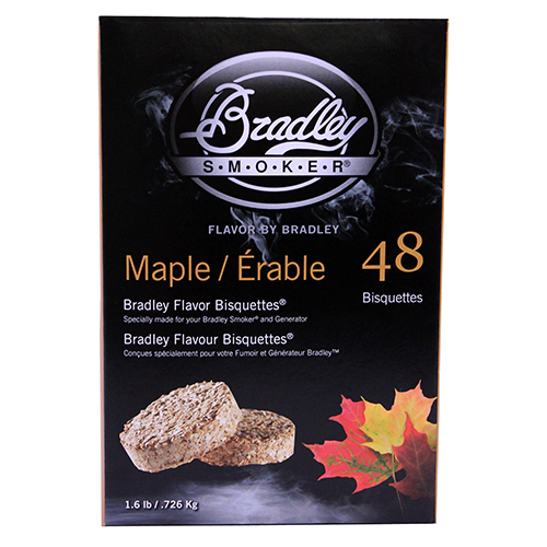 Bradley Technologies Maple Bisquettes (48 Pack) Mfg# BTMP48