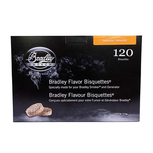 Bradley Technologies Mesquite Bisquettes (120 Pack) Mfg# BTMQ120