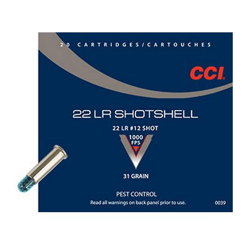CCI 22 LR Shotshell (Per 20) Mfg# 39