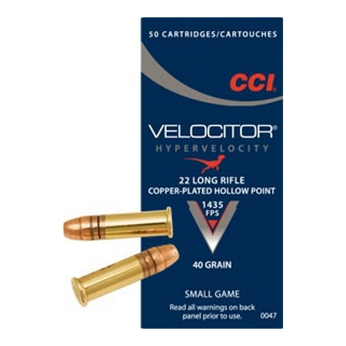 CCI 22LR Velocitor 40gr GDHP/50 Mfg# 47