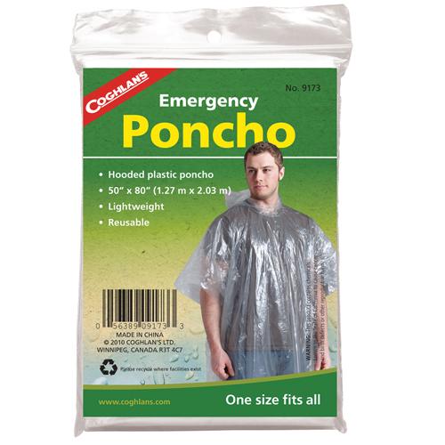 Coghlans Emergency Poncho - Clear Mfg# 9173
