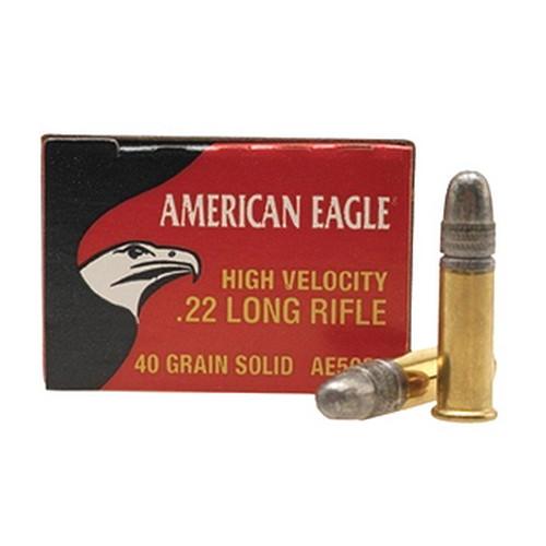 Federal Cartridge 22LR 40gr HV AmerEagle Solid /50 Mfg# AE5022