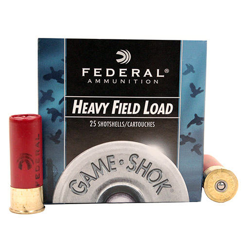 "Federal Cartridge Field 12ga 2 3/4"" 4-Shot /25 Mfg# H1234"