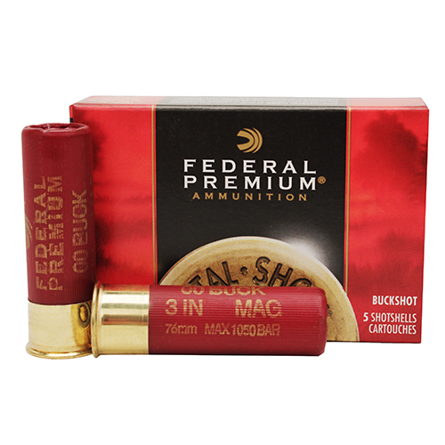 "Federal Cartridge Buckshot 12Ga. 3""  00-Buck/5 Mfg# P15800"