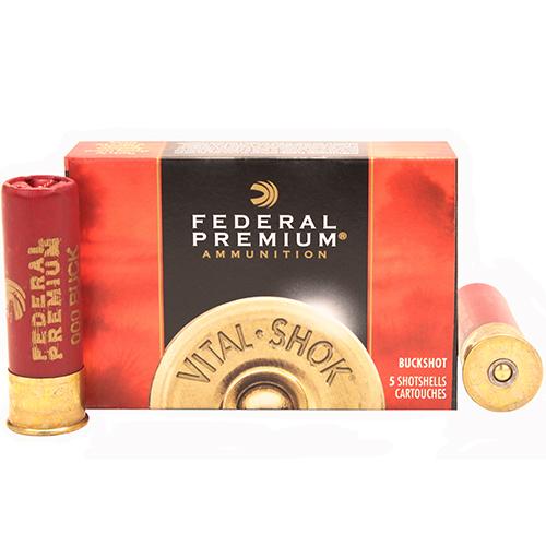 """Federal Cartridge Buckshot 12Ga. 3"""" 000-Buck/5 Mfg# P158000"""