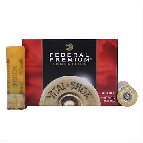 """Federal Cartridge Buckshot 20Ga. 2.75""""  3-Buck/5 Mfg# P2563B"""