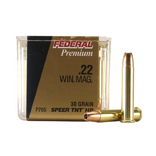 Federal Cartridge 22 Win.Mag. 30Gr. JHP/50 Mfg# P765