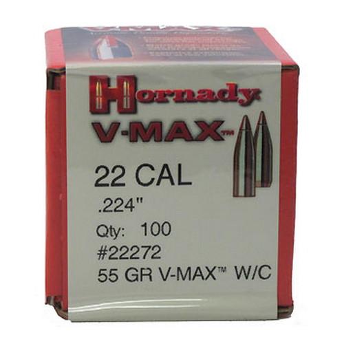 Hornady 22 Cal .224 55gr V-MAX W/C /100 Mfg# 22272