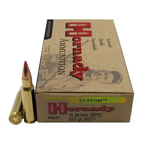 Hornady 6.8mm SPC 120gr SST Custom /20 Mfg# 8347
