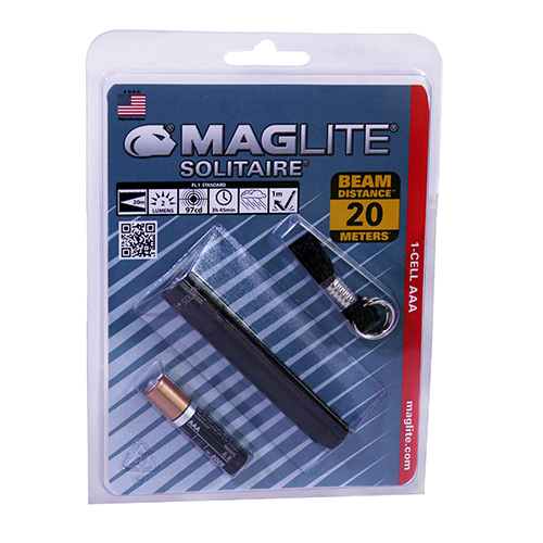 Maglite AAA Solitaire Blister Pak, Blk Mfg# K3A016