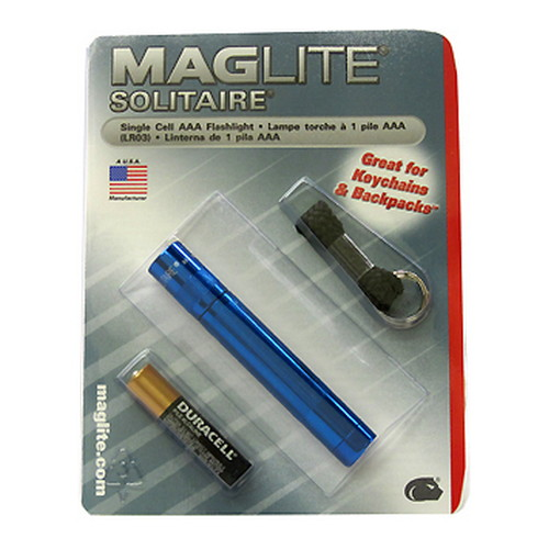 Maglite AAA Solitaire Blister, Royal Blue Mfg# K3A116