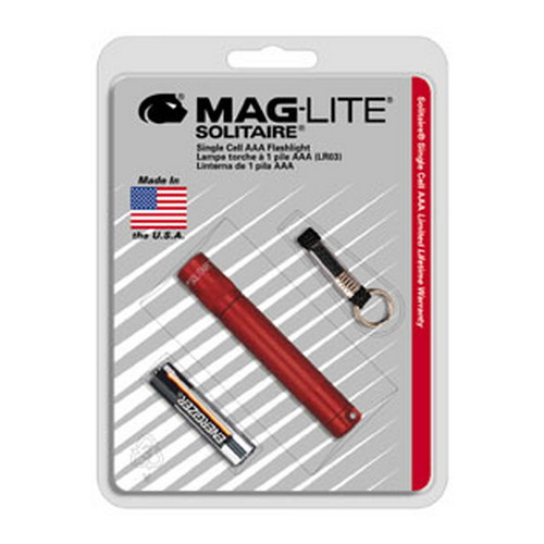 Maglite AAA Solitaire Blister Pak, Dk Red Mfg# K3A036