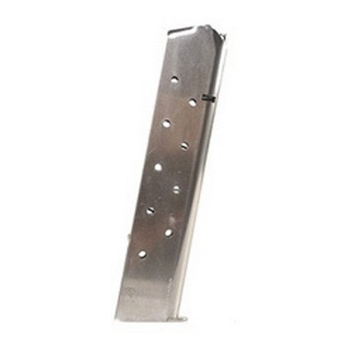Mecgar 1911  45 ACP 11 Extended Nickel Mfg# MGCG4511N