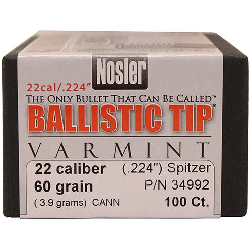 Nosler 22 Cal 60gr Ball Tip (100 ct) Mfg# 34992