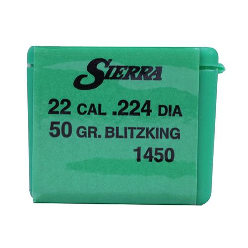 Sierra Bullets 22 Blitz King 50gr /100 Mfg# 1450