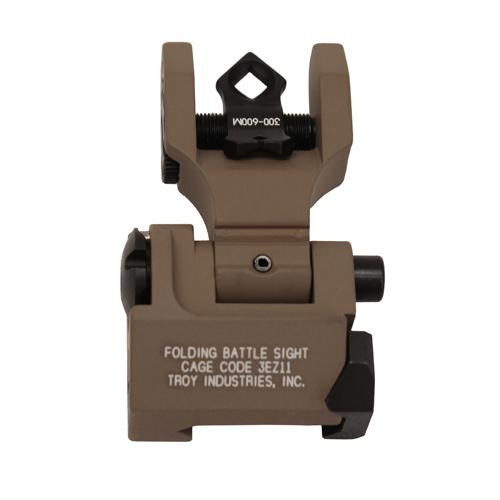 Troy Industries DOA Rear Folding Sight - FDE Mfg# SSIG-DOA-RFFT-00