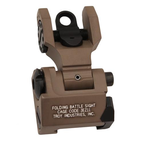 Troy Industries Rear Folding Battle Sight - FDE Mfg# SSIG-FBS-R0FT-00