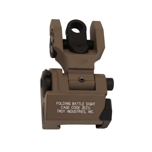 Troy Industries Rear Trit Folding Sight - FDE Mfg# SSIG-FBS-RTFT-00
