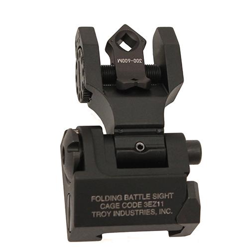 Troy Industries DOA Rear Folding Sight Trit - BLK Mfg# SSIG-FBS-TTBT-00