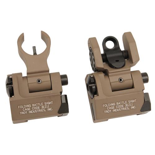 Troy Industries MICRO - HK Folding Sight Set FDE Mfg# SSIG-IAR-SMFT-00