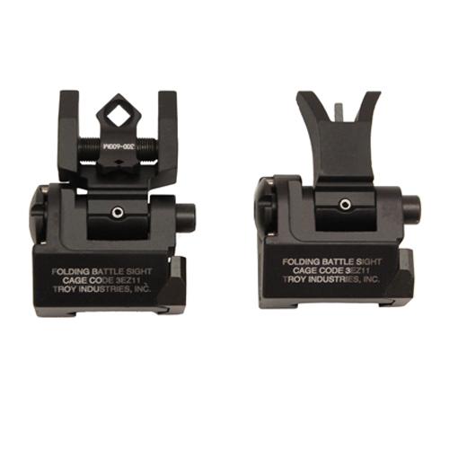 Troy Industries MICRO - M4 Folding Sight Set BLK Mfg# SSIG-MCM-SSBT-00