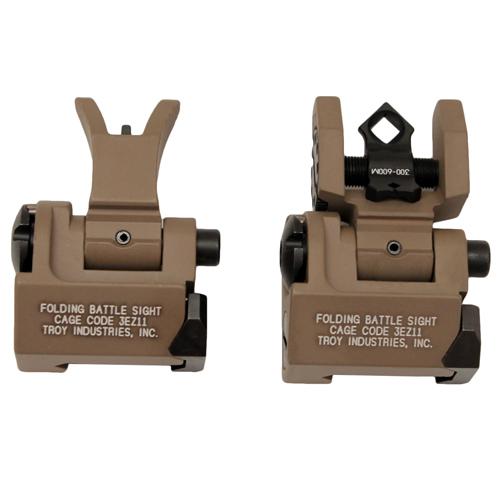 Troy Industries MICRO - M4 Folding Sight Set FDE Mfg# SSIG-MCM-SSFT-00