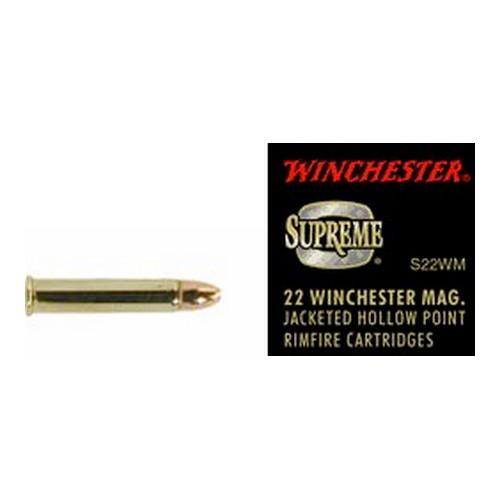 Winchester Ammo 22 WinMag 34gr Supreme JHP /50 Mfg# S22WM