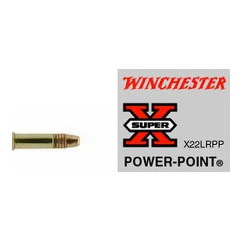 Winchester Ammo SupX 22LR Lead HP Hi-Vel 40gr /50 Mfg# X22LRPP
