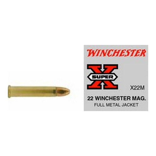 Winchester Ammo SupX 22 WinMag FMJ Super X/50 Mfg# X22M