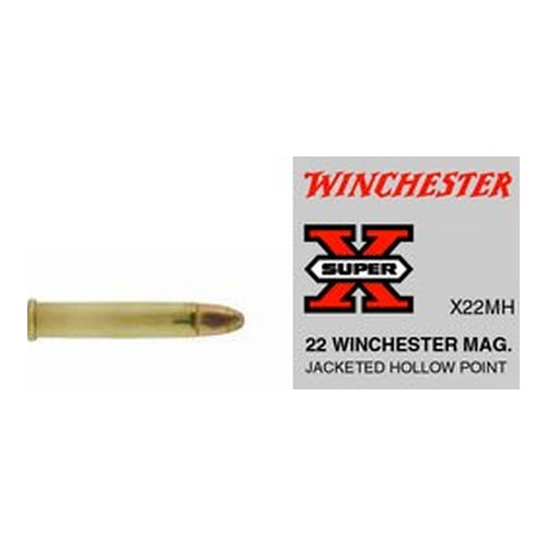 Winchester Ammo SupX 22 WinMag JHP Super X/50 Mfg# X22MH