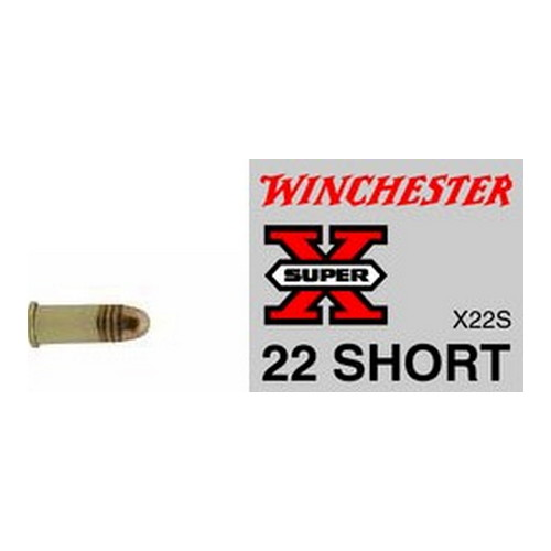 Winchester Ammo SupX 22 Short Lead RN /50 Mfg# X22S