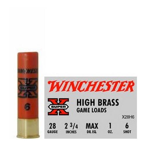 "Winchester Ammo SupX 28ga 2.75"" 6-Shot HiBrassGam Mfg# X28H6"