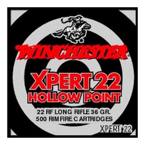 Winchester Ammo 22LR 36gr HP Xpert /500 Mfg# XPERT22