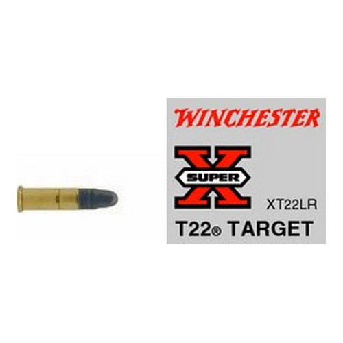 Winchester Ammo SupX 22LR Target Lead RN/50 Mfg# XT22LR