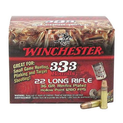 Winchester Ammo 22LR Copper HP Bulk /333 Mfg# 22LR333HP