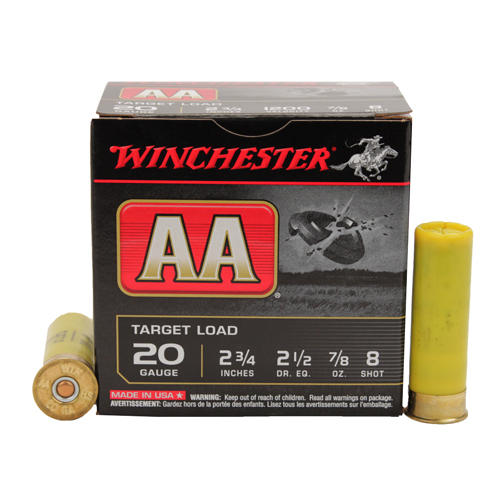 """Winchester Ammo AA 20Ga. 2.75"""" 8-Shot Target/25 Mfg# AA208"""