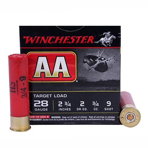 """Winchester Ammo AA 28ga 2.75"""" 9-Shot Target/25 Mfg# AA289"""