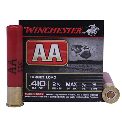 """Winchester Ammo AA 410ga 2.5"""" 9-Shot Target/25 Mfg# AA419"""