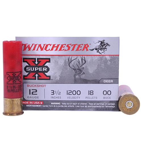 "Winchester Ammo SupX 12ga 3.5"" Mag Buck Shot/5 Mfg# XB12L00"