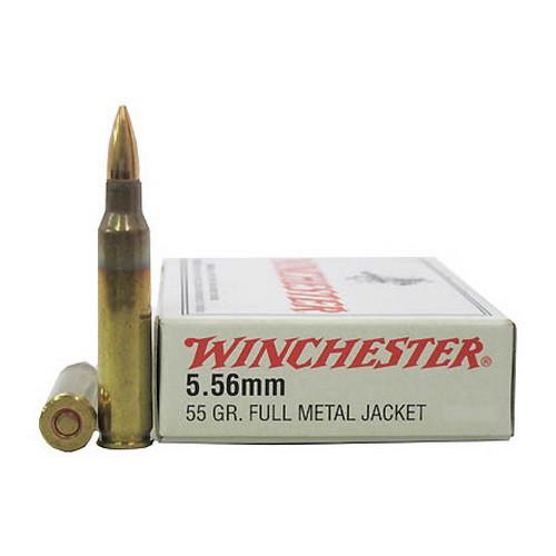 Winchester Ammo USA 5 56MM (223) 55Gr  FMJ/20 Mfg# Q3131